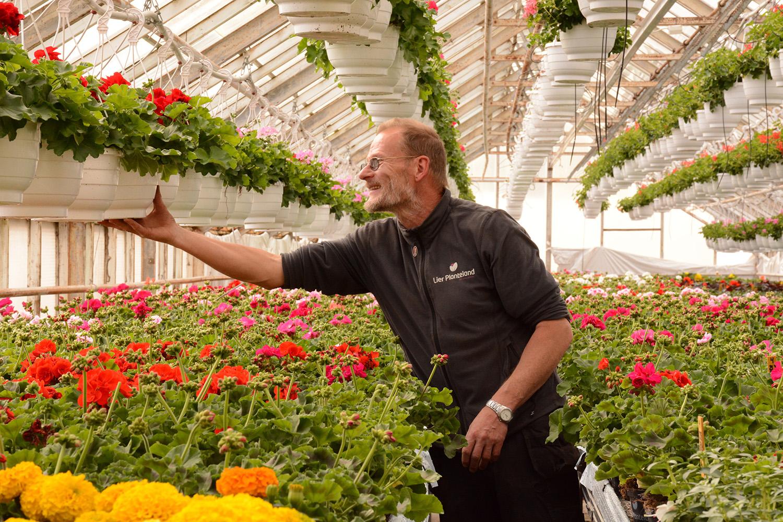Gartneren som elsker jobben sin og byr på kortreiste planter